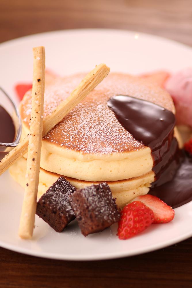生チョコとベリーのパンケーキ