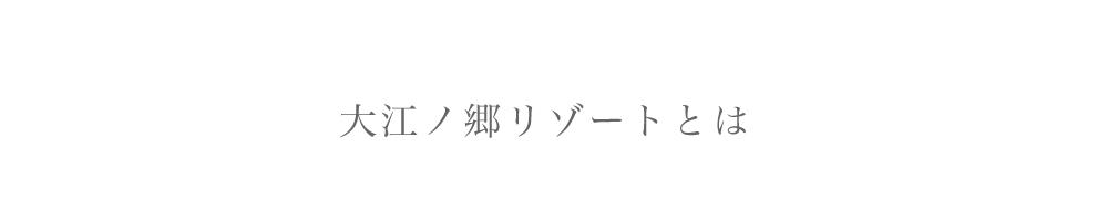 大江ノ郷リゾートとは