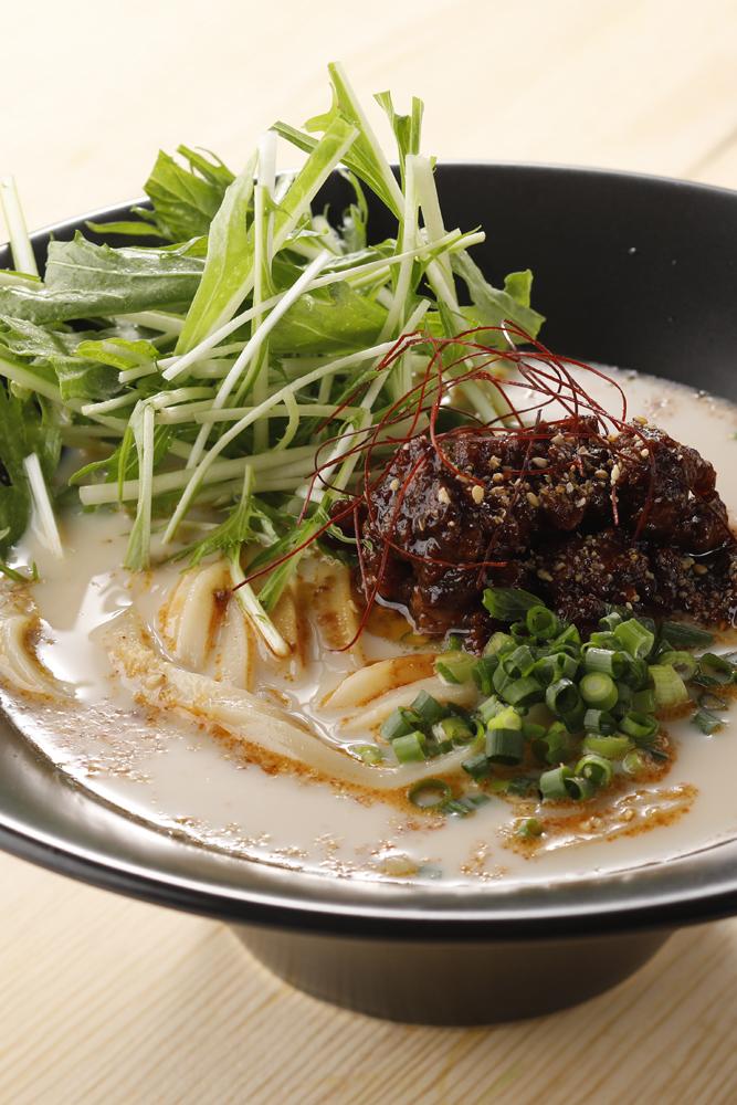 大江ノ郷製麺所「冷やし豆乳坦々うどん」