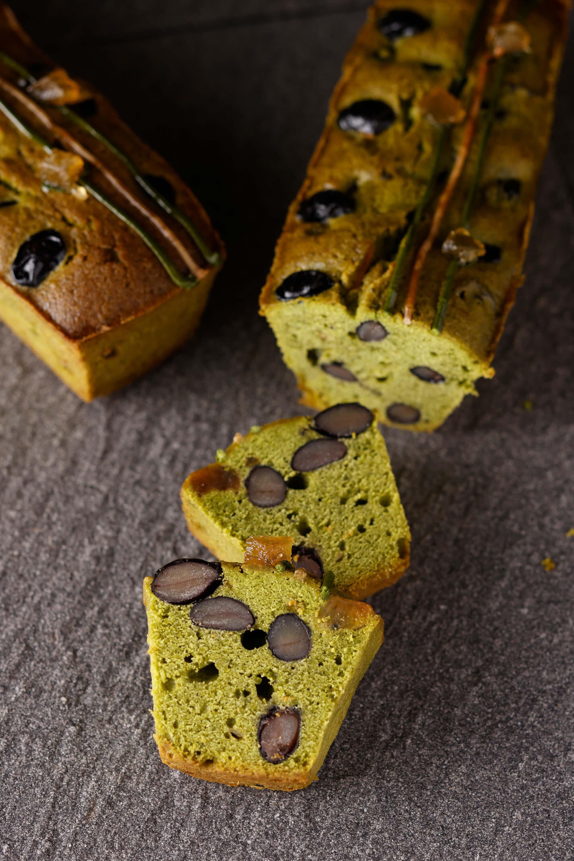 抹茶と黒豆のパウンドケーキ【大江ノ郷自然牧場】